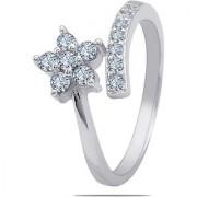 Silver Shine 92.5 Sterling Silver Star Flower Silver Ring for Women Girls