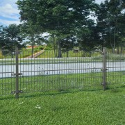 vidaXL Fence Panel with Posts Powder-coated Iron 6x0.8 m Anthracite