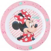 Disney 4x stuks Disney Minnie Mouse ontbijtbordje 22 cm voor kinderen