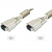 ASSMANN DK-310103-018-E :: VGA кабел HD15 M/M, 1.8 м, с феритна защита