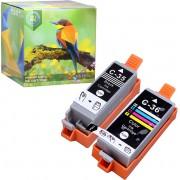 Ink Hero - 2 Pack - Inktcartridge / Alternatief voor de Canon CLI-36, PGI-35, PIXMA iP100, iP110 wb