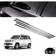 Trigcars Mahindra TUV 300 Car Window Lower Garnish chrome
