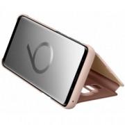Pachet Samsung Galaxy S9 Plus G965 Husa SAMSUNG Plastic Clear Cover Roz + Folie Sticla securizata 3D Full Cover Negru