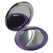 Merkloos Zak spiegeltje paars