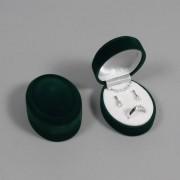 Sametova krabicka na sperky - zeleny oval