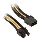Cablu prelungitor Silverstone 8-pini (6+2-pini) PCIe, 25cm, Black/Gold, PP07-PCIBG
