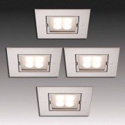 HERA Four LED recessed lights stainless steel