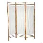 Paraván bambusz és vászon