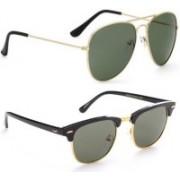 Phenomenal Aviator, Clubmaster Sunglasses(Green)