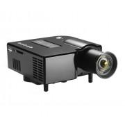 Mini Videoproiector montaj Tripod LED USB 2.0 si Card SD HDMI VGA si telecomanda