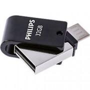 Philips USB 2.0 Flash Drive 2-in-1 32 GB Silver