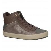 Geox Bronzen Hoge Schoenen met Rits/Veter Geox