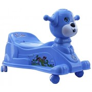 Baby Potty Trainer Cum Rider With Wheels And Music 15 Months (Blue)