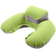 Aeoss Portable Travel Pillow Inflatable Neck U-shaped Pillow Ear Plug & Eyes Mask Exploding Neck Cushion PVC Flocking Pillow for Flight Course Neck Pillow(Green)