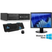 Pachet Sistem PC Refurbished HP Compaq 6000 Pro SFF(Procesor Intel® Pentium® E5800 (2M Cache, up to 3.20 GHz), 2GB, 160GB HDD, Intel® GMA, Win10 Home) + Monitor LG Flatron E1910 + Tastatura si Mouse LogiStep