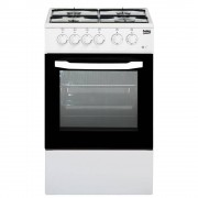 Beko Css42014fw Cucina a Libera Installazione 4 Fuochi a Gas Forno Elettrico B 85x50x50cm, Bianco