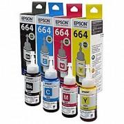Original Original Epson Ink All Colors (T6641-B T6642-C T6643-M T6644-Y) 70 Ml Each For L100/L110/L200/L210/L300/L350/L355/L550