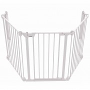 Noma 3-Panel Safety Gate Modular Metal White 94054