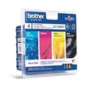 Brother Multipack nero / ciano / magenta / giallo LC1100HYVALBPDR LC-1100HY Multi Pack, 4x Cartucce d'inchiostro: hybk/hyc/hym/hyy