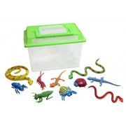 Bug Hut with Snakes Lizards Bugs - Pool Dive - Sandbox toy - Summer toy