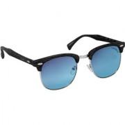 Laurels Wood II Men Blue Color Wayfarer Sunglass (LS-WD-II-030303)