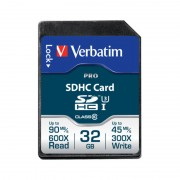 Card Verbatim SDHC Pro 32GB Clasa 10 UHS-I U3