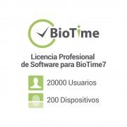 Licencia profesional de software para BIOTIME7 ZKTECO ZK-BT7-PRO, 200 dispositivos / 20000 empleados / licencia vitalicia