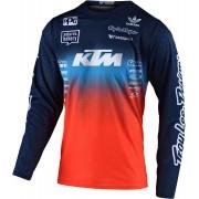 Troy Lee Designs GP Air Stain'd Team Motocross Tröja Blå Orange L