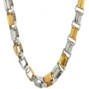 Sanaa Creations Mens Style Stainless Steel Silver Gold Rhodium Plated Mens chain Daily/Party Wear Stylish Fashion Jewell