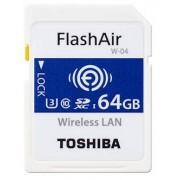 Toshiba SDHC FLASH AIR WIFI 64GB CLASSE 10 W-04 - WIRELESS CARD