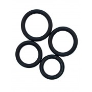 RudeRider [4 Pack] Fix Rubber Thick Cock Rings