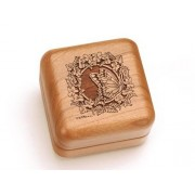 """Music Box 2 1/2"""" Square - Floral Butterfly - Waltz of the Flowers"""