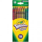 Crayola Twistables Colored Pencils, Assorted Colors 18 Ea (11 Packs)