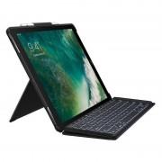 "Logitech Capa Logitech Slim Combo com Teclado Sem Fios Preto para iPad Pro de 12.9"""