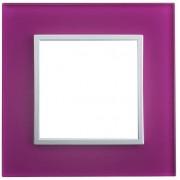 SOPIA Lichtschalter Einzelrahmen aus Glass (pink) 231192