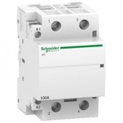 Moduláris kontaktor 100A, 2 Záró érintkező, 220-240V AC 50 Hz (Schneider A9C20882)