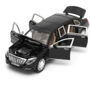 Toy Jumble Black 132 Die Cast Metal Mercedes Benz Pull Back Car Toy with Light and Sound Effects (Black)