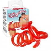 You2Toys Funny Kangaroo Cock Ring Red 0518077