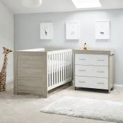 Lit bébé & commode Nika Gris blanc