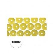 Rayher hobby materialen 1000x Glimmend geel decoratiemateriaal