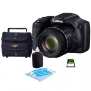 Adorama Canon PowerShot SX530 HS Digital Camera - Bundle with Camera Case, 16GB Class 10 SDHC Card, Cleaning Kit