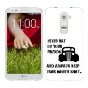 Husa LG G2 Mini Silicon Gel Tpu Model Never Rat On Your Friends B&W
