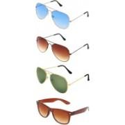 Abner Wayfarer Sunglasses(Blue, Brown, Green, Brown)
