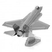 3D Puzzle de metal F35 juguete modelo de combate - plata