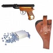 Prijam Air Gun Bmw-2 Model With Metal Body For Target Practice Combo Offer 300 Pellets With Cover Air Gun