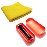 Stylewell Combo Of Multi-purpose Wet and Dry Microfiber Cleaning Towel Cloth Magic Roller HandDust Cleaning Brush