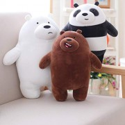30cm Kawaii We Bare Bears Plush Toy Cartoon Bear Stuffed Grizzly Gray White Bear Panda Doll Kids Love Birthday
