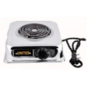 United 1250 Radiant Cooktop(Silver, Jog Dial)