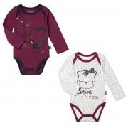 Petit Béguin Lot de 2 bodies bébé fille manches longues Cotcotdiva - Taille - 18 mois