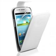 Samsung I8190 Galaxy S III mini Flip Калъф Бял + Протектор